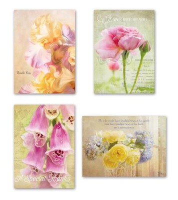 Floral Thank You Cards, Box of 12  -     By: Glynda Turley