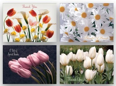Springtime Flowers Thank You Cards, Box of 12  -     By: James Murphy