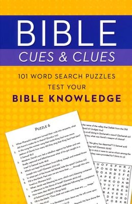 Bible Cues and Clues: 101 Word Search Puzzles Test Your Bible Knowledge  -     By: Compiled by Barbour Staff