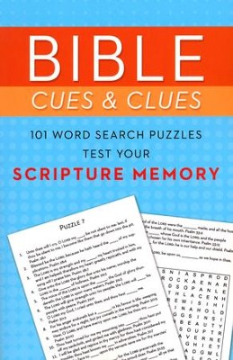 Bible Cues and Clues: 101 Word Search Puzzles Test Your Scripture Memory  -     By: Compiled by Barbour Staff
