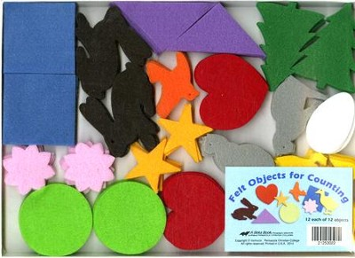Felt Objects for Counting (K4-K5; 144 pieces)   -