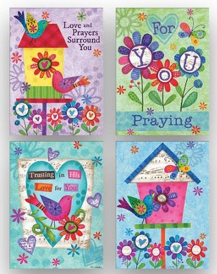 Birds and Butterflies Get Well Cards, Box of 12  -     By: Tina Wenke