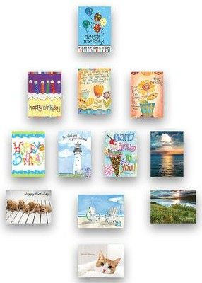 Assorted Birthday Cards, Box of 24  -