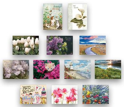 Assorted All Occasion Cards, Box of 24  -