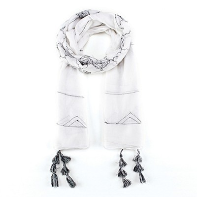 Wings, Prayer Scarf, White  -