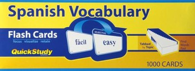 Spanish Vocabulary Flash Cards (Box of 1000)   -