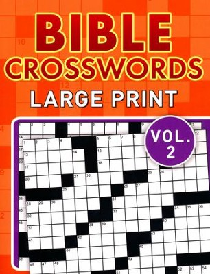 Bible Crosswords, Large Print Vol. 2  -     By: Compiled by Barbour Staff