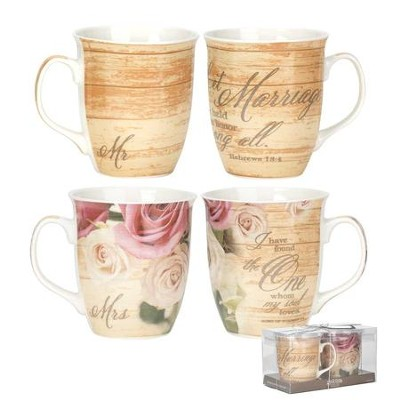 Marriage Mugs, Set of 2  -
