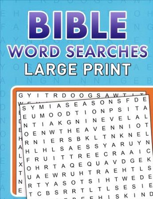 Bible Word Searches, Large Print  -     By: Compiled by Barbour Staff