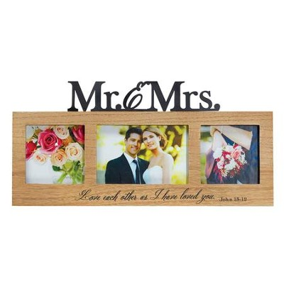 Mr. & Mrs. Love Each Other As I Have Loved You Photo Frame  -