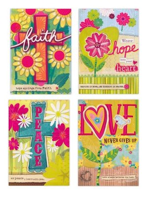 Faith, Love, Hope, Peace Encouragement Cards, Box of 12  -