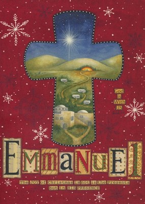 Emmanuel (Matthew 1:23, NIV), 20 Count Boxed Christmas Cards  -