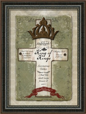 King Of Kings, Cross, Framed Art  -