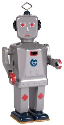 Tin Sparkling Mike Robot  -
