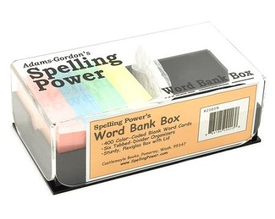 Spelling Power Word Bank Box with Blank Word Cards   -
