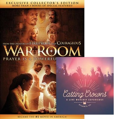 War Room, Exclusive Collector's Edition DVD + Casting Crowns Live Worship Experience  -     By: Casting Crown