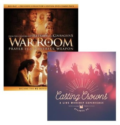 War Room, Blu-Ray + Exclusive Collector's Edition DVD + Casting Crowns Live Worship Experience  -     By: Casting Crowns