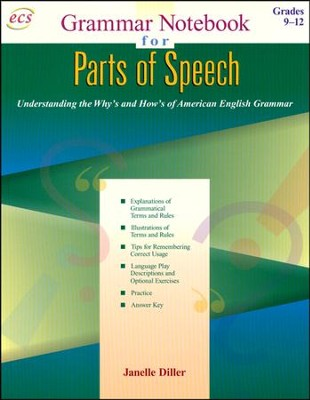 Parts of Speech: Grammar Notebook (Book 1), Grades 9  to 12  -