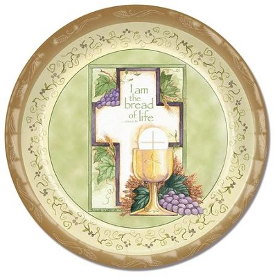Communion, Cross and Chalice Paper Plates, Pack of 8  -