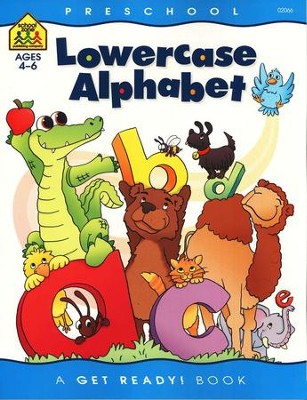 General Learning-Lowercase Alphabet, Preschool Get Ready Workbooks  -