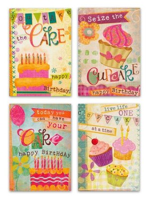 Cupcake, Birthday Cards, Box of 12  -