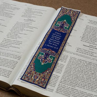 Carpet Bookmark, 1 Peter 5:7    -