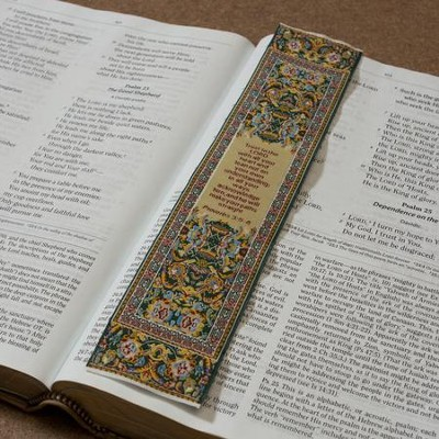 Carpet Bookmark, Yellow, Proverbs 3:5-6   -