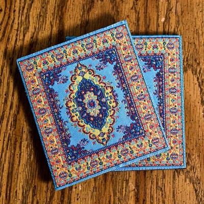 Carpet Coaster, Blue Eye, Pack of 2   -