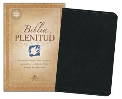 Biblia Plenitud, RVR Spirit-Filled Life Bible--bonded  leather, black (indexed)  -