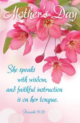 She Speaks with Wisdom (Proverbs 31:26) Bulletins, 100  -
