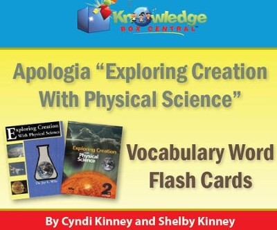 Apologia Exploring Creation With Physical Science Vocabulary Word Flash Cards (1st & 2nd Editions) - PDF Download  [Download] -     By: Cyndi Kinney, Shelby Kinney