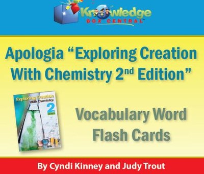 Apologia Exploring Creation With Chemistry Vocabulary Word Flash Cards (2nd Edition) - PDF Download  [Download] -     By: Cyndi Kinney, Judy Trout