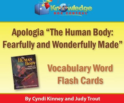 Apologia Human Body Vocabulary Word Flash Cards - PDF Download  [Download] -     By: Cyndi Kinney, Judy Trout