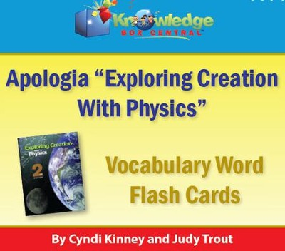 Apologia Exploring Creation With Physics Vocabulary Word Flash Cards - PDF  Download [Download]
