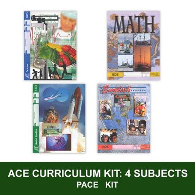 ACE Core Curriculum Kit (4 Subjects), PACEs Only, Grade 3, 3rd Edition (with 4th Edition Science & Social Studies)  -