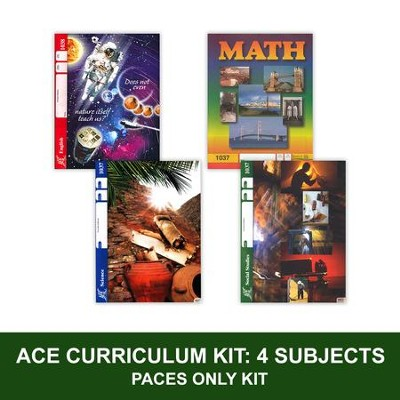 ACE Core Curriculum Kit (4 Subjects), PACEs Only, Grade 4, 3rd Edition (with 4th Edition Science & Social Studies)  -