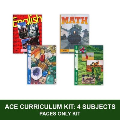 ACE Core Curriculum Kit (4 Subjects), PACEs Only, Grade 6    -