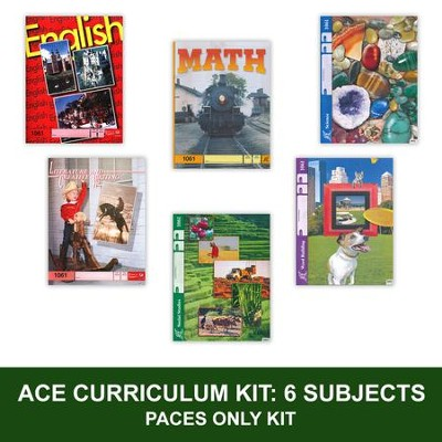 ACE Comprehensive Curriculum Single Student PACES Only Grade 6 (6 subjects)   -