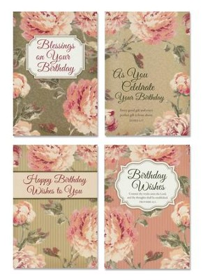 Floral Rapture Birthday Cards, Box of 12 (KJV)   -