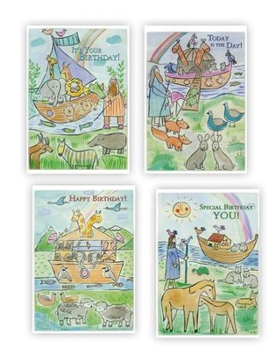Noah's Ark (Juvenile Birthday) Box of 12 (KJV)   -