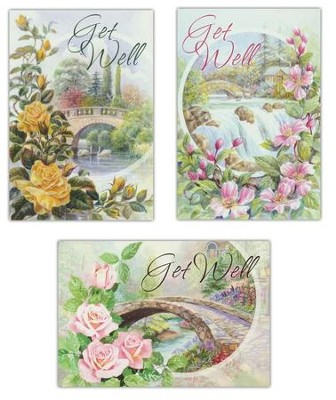 Bridges, Get Well Cards, Box of 12 (KJV)   -