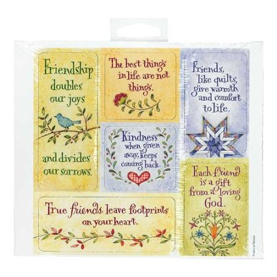 Friendship Magnets, Sheet of 6  -