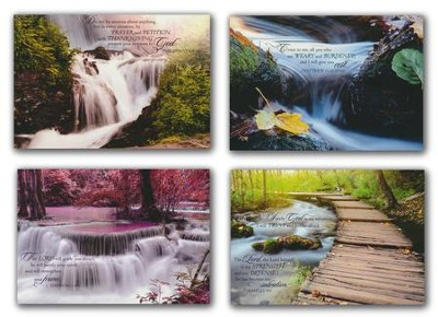 Waterscapes, Get Well Cards, Box of 12 (NIV)   -
