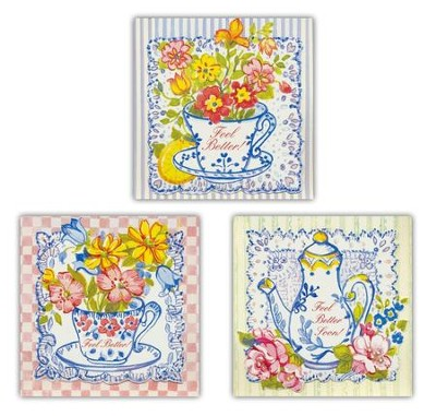 A Spot of Tea, Get Well Cards, Box of 12 (KJV)   -