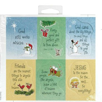 Christmas Magnets, Sheet of 6  -