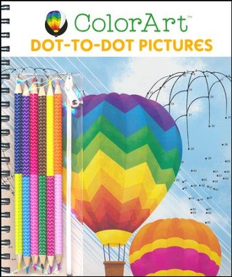 ColorArt Dot To Dot Pictures, with a Set of Colored Pencils  -