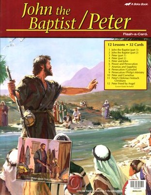 Abeka John the Baptist/Peter Flash-a-Card Set   -