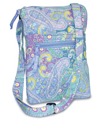 Paisley Quilted Crossbody Bag Blue   -