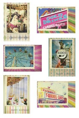 Birthday Fair, Box of 12 Birthday Cards   -