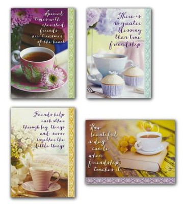 Coffee Time, Friendship Cards, Box of 12 (KJV)   -
